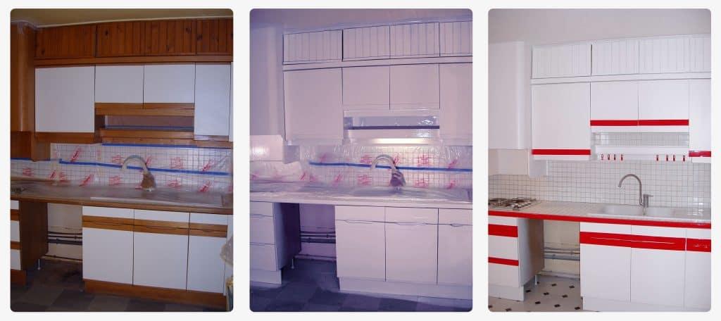 Peinture sur mobilier de cuisine